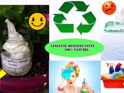 DIY Lingette désinfectante pour la maison 100% naturelle facile