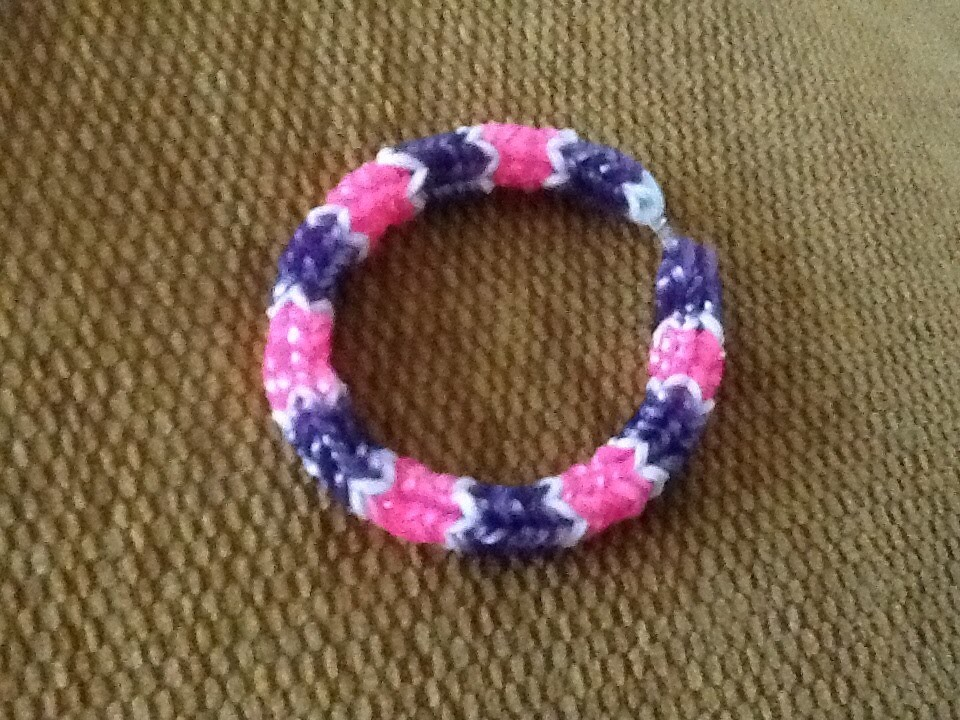 Tuto : Bracelet rainbow loom serpent en français