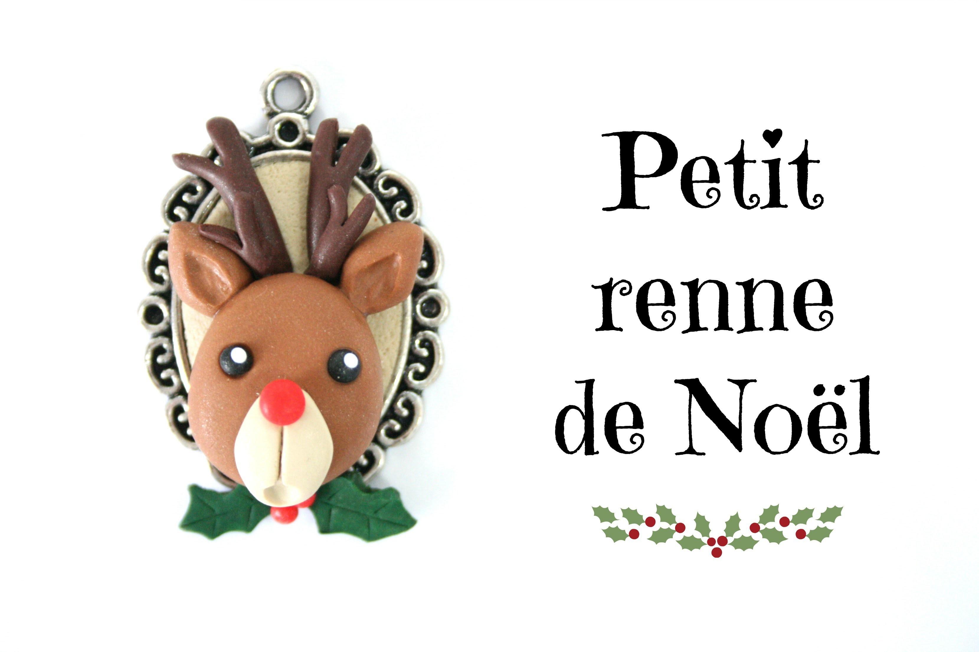 (TUTO) Petit renne de Noël en fimo. Christmas reindeer polymer clay