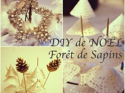 DIY de NOËL : Forêt de Sapins