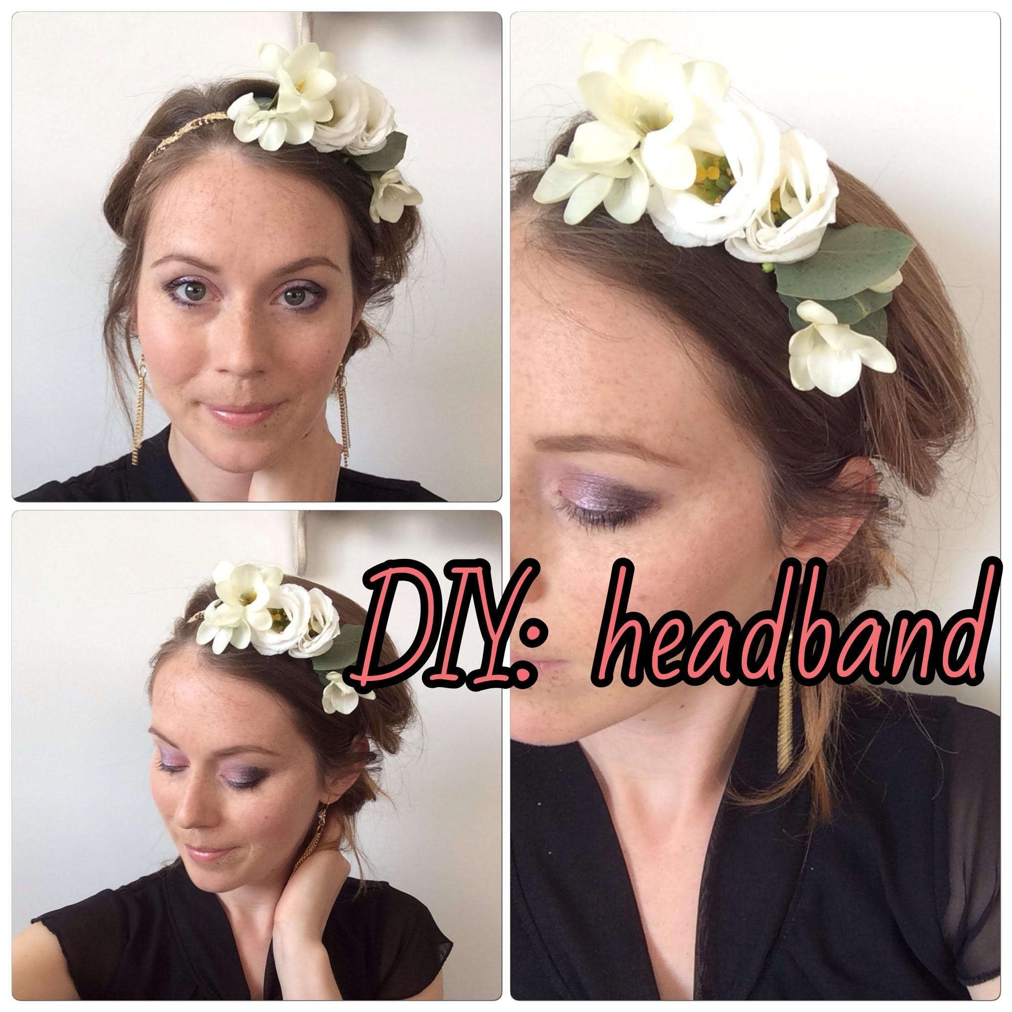 DIY coiffure : Comment réaliser un headband Fleuri. DIY Hair Flowers Headband