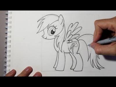 Comment dessiner Rainbow Dash du dessin animé Mon Petit Poney