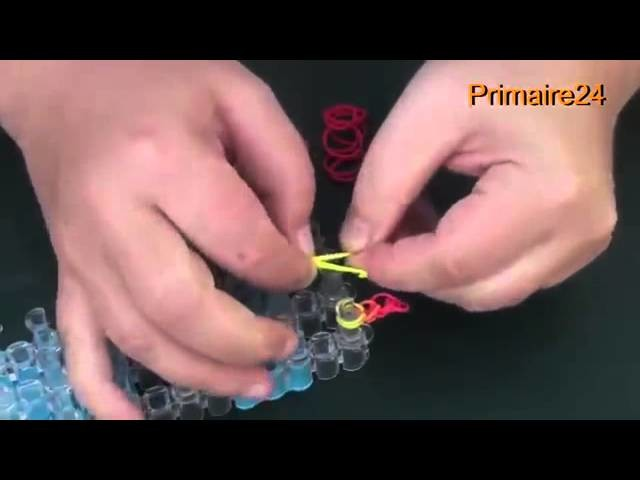 Comment créer une fleur Rainbow Loom (en français)