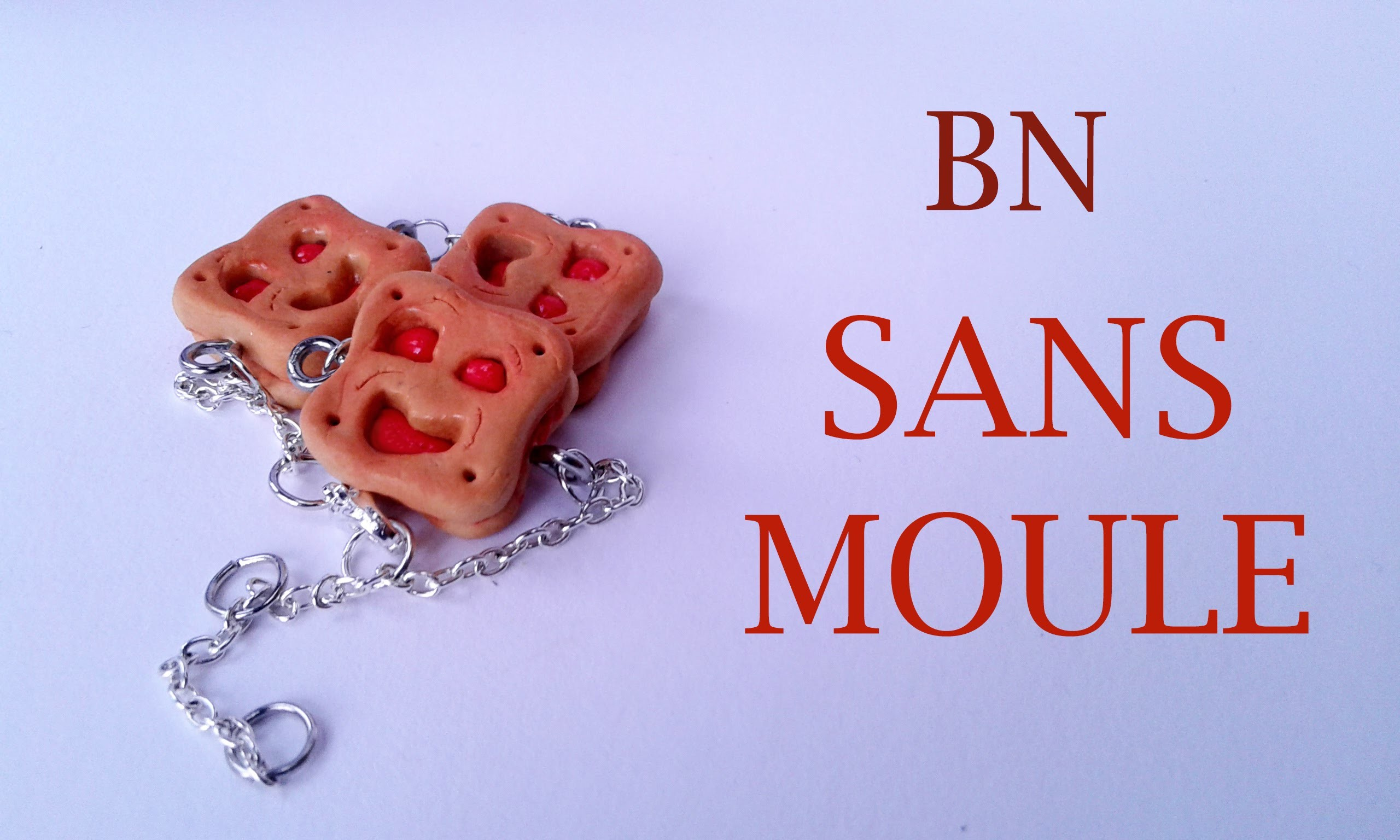 BN fimo : SANS MOULE !!! - polymer clay biscuit WITHOUT MOLD !!!
