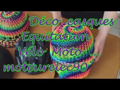 """Casque coloré Tuto déco en """"rainbow loom"""""""