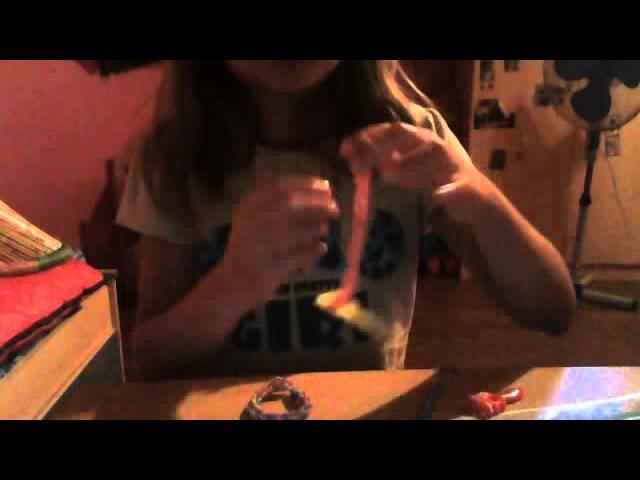 """Bracelet rainbow loom """" serrée """" en francais et facile"""