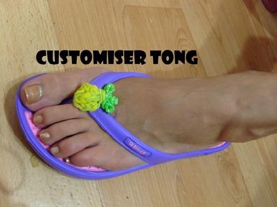Customiser vos tongs,rainbow loom bands, bracelet elastique. Tuto francais