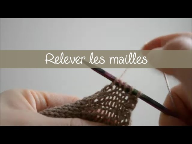 Tricot. Relever les maille