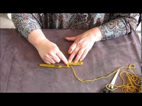 Apprendre à faire une double bride au crochet - Tutoriel
