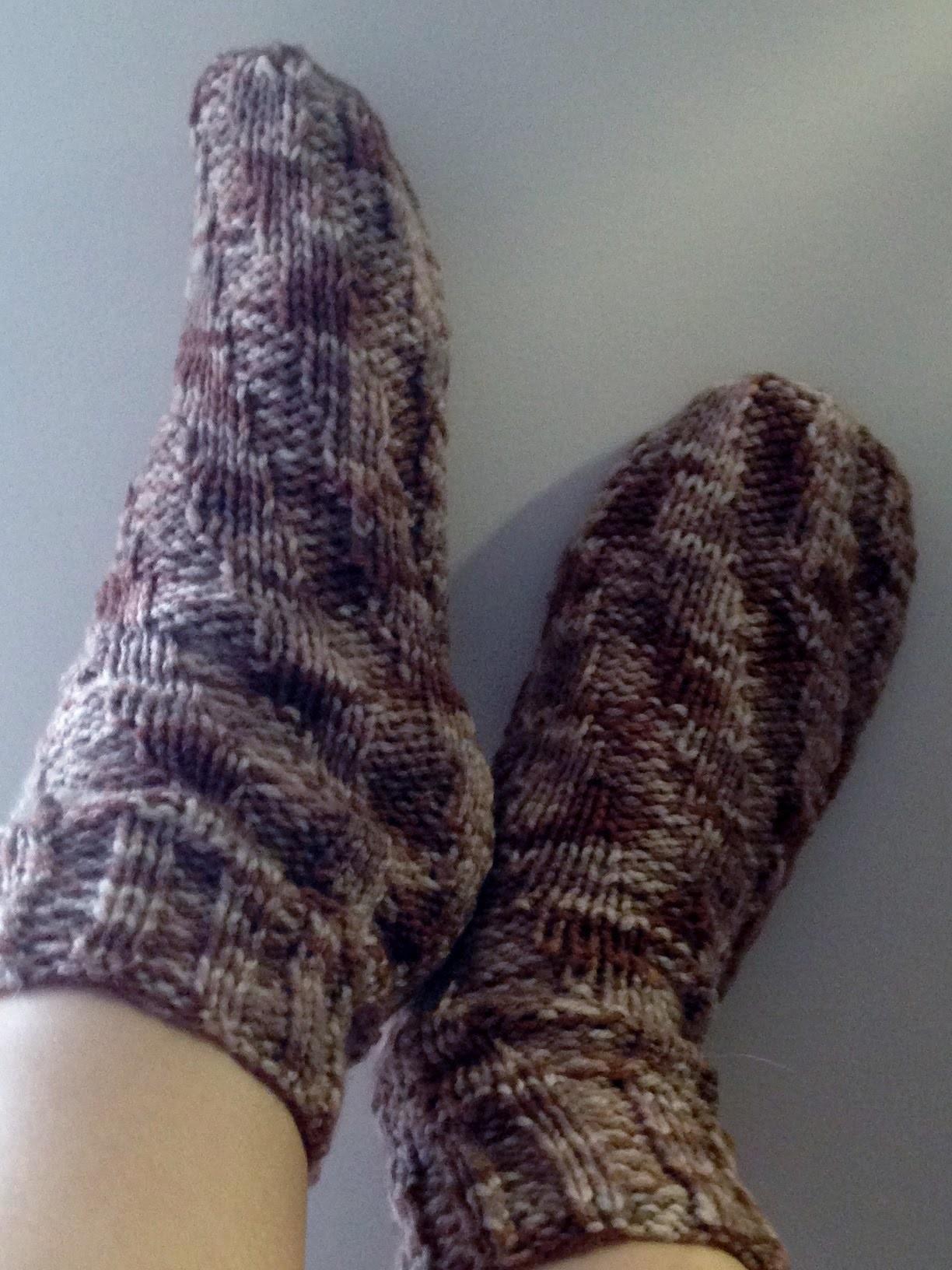 Chaussettes en spirale tutoriel tricot.Calzini