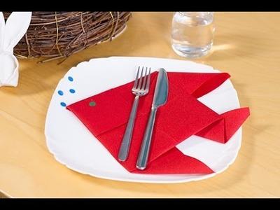 DIY Pliage de serviette en poisson pour Pâques ou le 1er avril