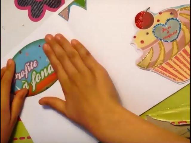 DIY TUTO Carte d'anniversaire pour une jeune fille De 10 ans