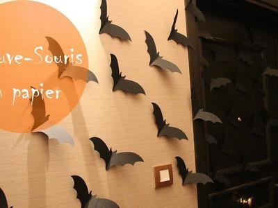 Halloween:  Chauve-Souris en papier.