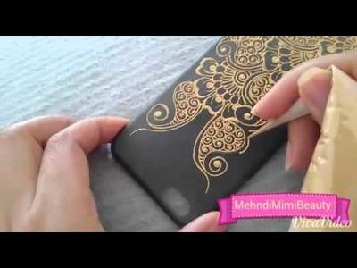 Henna phone case. coque portable personnalisée