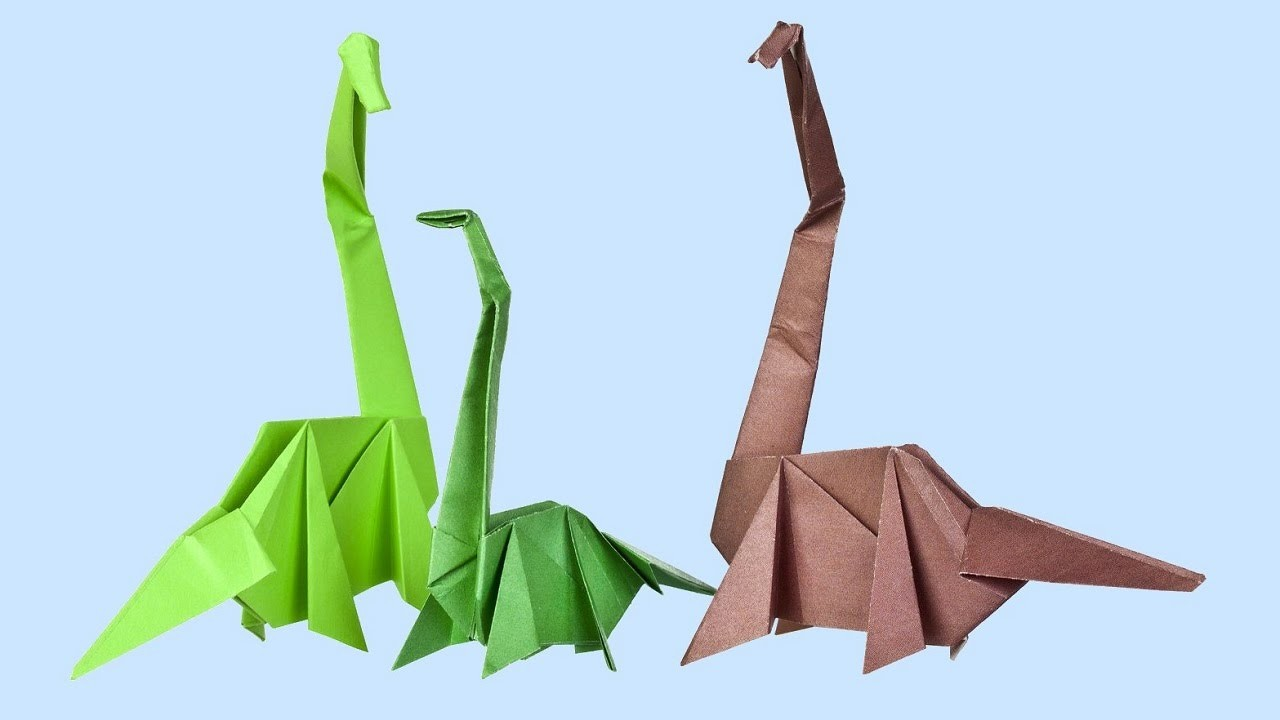 Origami dinosaure