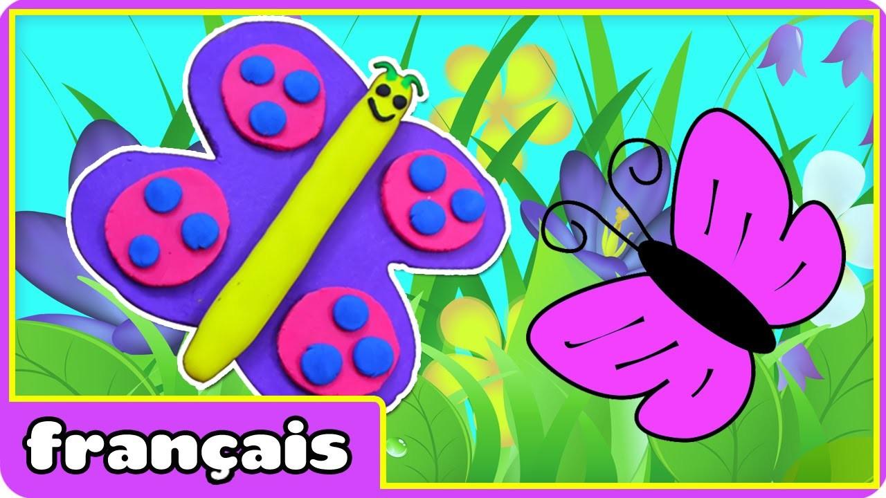 Papillon en Pâte à Modeler | PlayDoh Butterfly | Pâte à Modeler en Français | HooplaKidz Francais