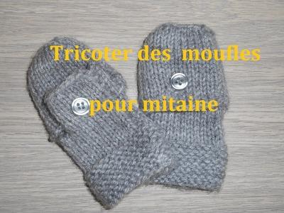Tricoter des moufles pour mitaine