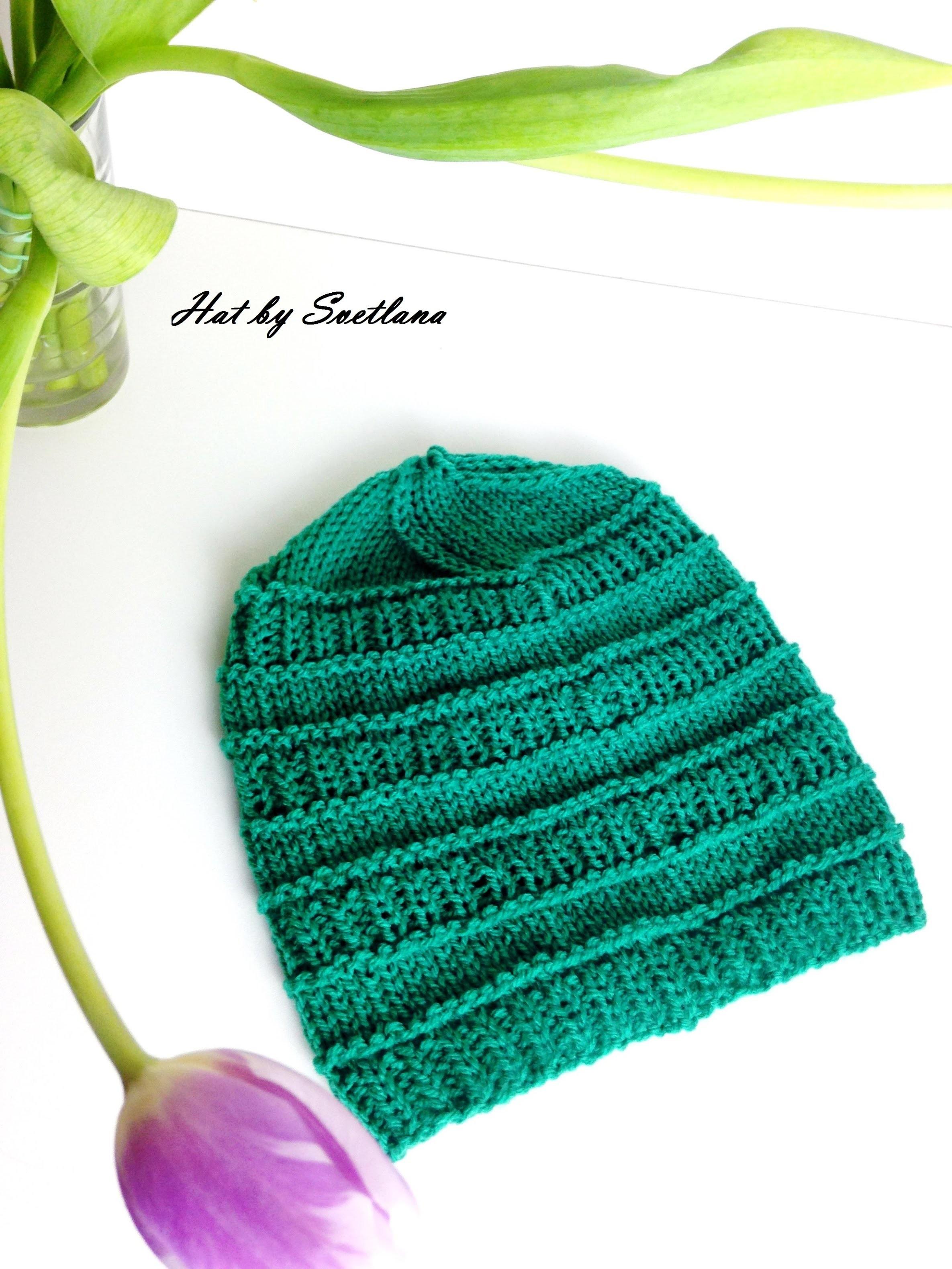 Tuto bonnet bébé.enfant simple et facile à tricoter