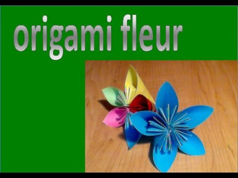 Tuto brico Nr.3: Fleurs en origami