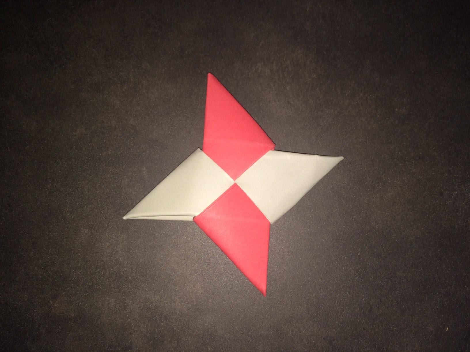 Tuto Origami : Etoile Shuriken Facile