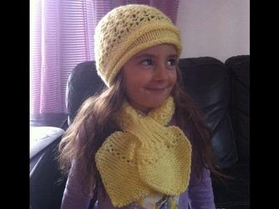 Tuto tricot: Écharpe feuille point péruvien 1