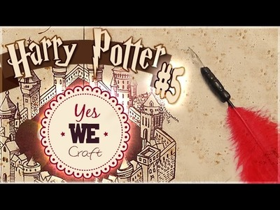 YWC Harry Potter#5: La plume de Professeur Ombrage. PÂTE POLYMÈRE, Rayher. PtitAtelier