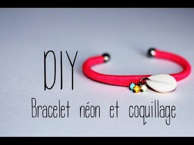 DIY # Bracelet néon et coquillage