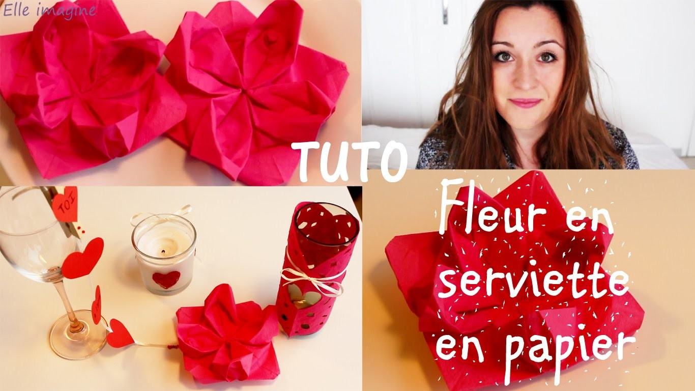 """❣✎ DIY, fleur serviette en papier """"Déco, custo Saint valentin"""""""