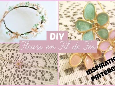 DIY - Fleurs en Fil de Fer + Vernis ! Inspiration Pinsterest