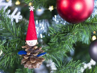 DIY Noël - Lutin en pomme de pin pour décorer votre sapin