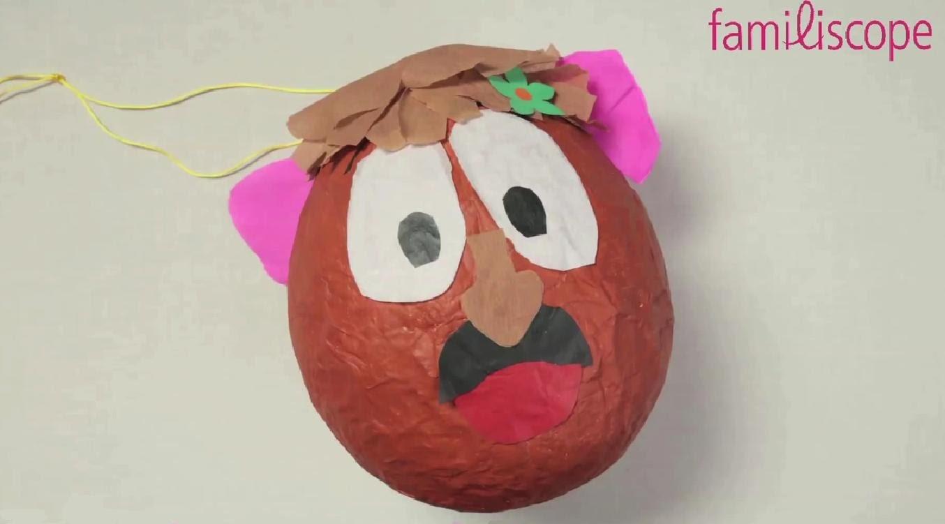 DIY Tuto: Fabriquer une pinata de Mr Potato.