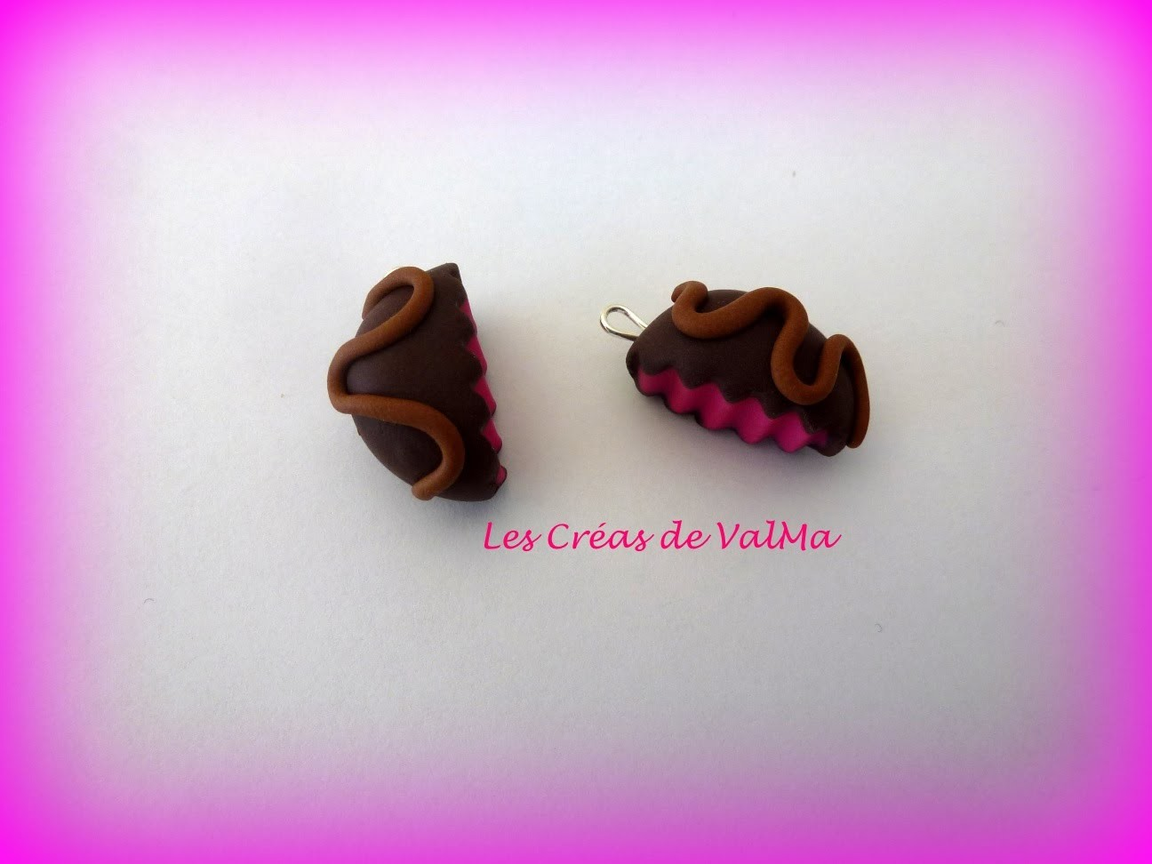 Tuto Fimo biscuit croqué fraise chocolat.Polymer clay Tutorial