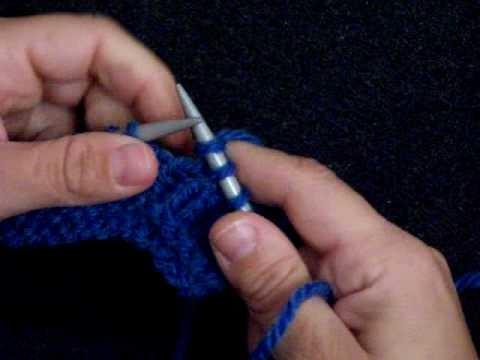 Apprendre à tricoter : tricoter une boutonnière (1.2), jeté