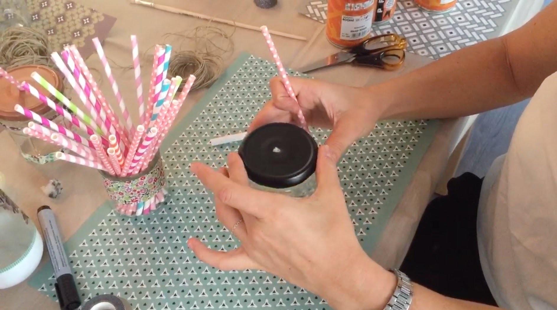 Atelier DIY animé par @mymodernART1 : la Mason Jar
