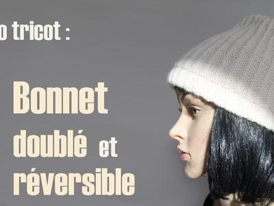 Bonnet doublé réversible