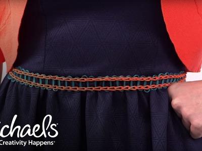 Comment fabriquer une ceinture | Rainbow Loom | Michaels