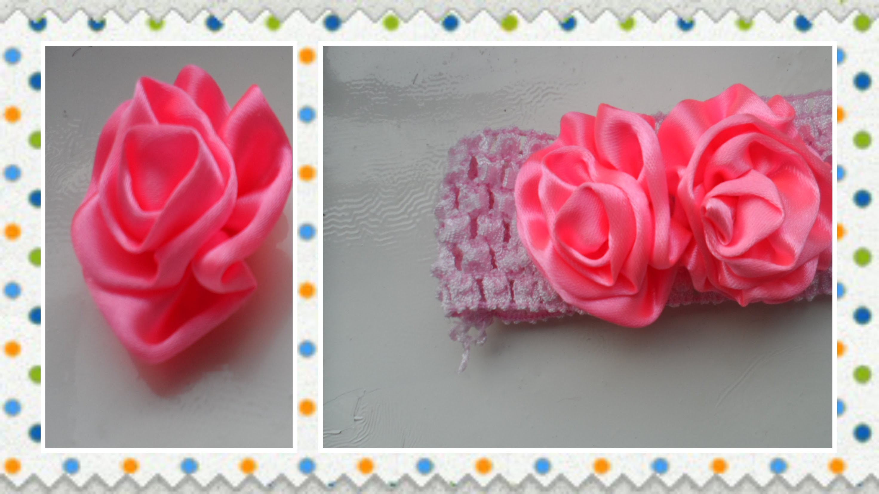 D.I.Y . Flower hair bow