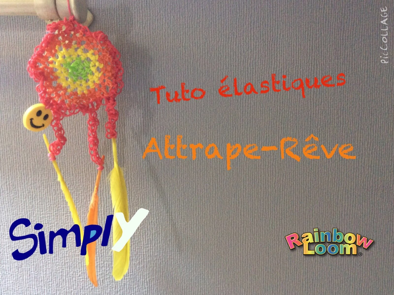 {Tuto} Attrape-Rêve en élastiques Rainbow Loom | Simply