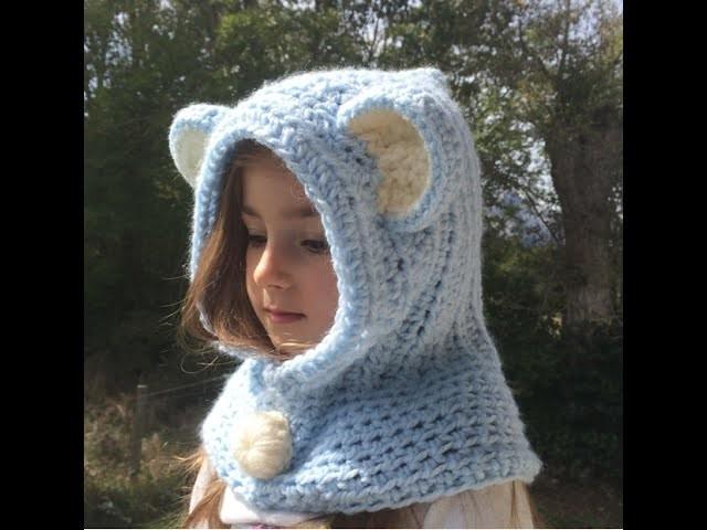 Tuto crochet :Capuche oreilles d'animaux toutes tailles. capucha con orejas todas las tallas