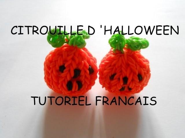 CITROUILLE HALLOWEEN EN ELASTIQUE LOOM  TUTORIEL FRANCAIS