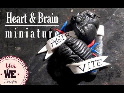 Coeur Cerveau AVC ll Yes We Craft tutorial #7 DIY FIMO polymer clay