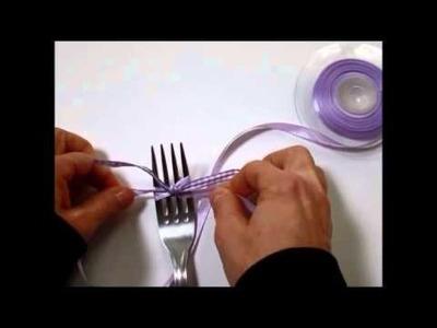 DIY facile : noeuds de ruban avec une fourchette (Les Gourmandises de FLO)