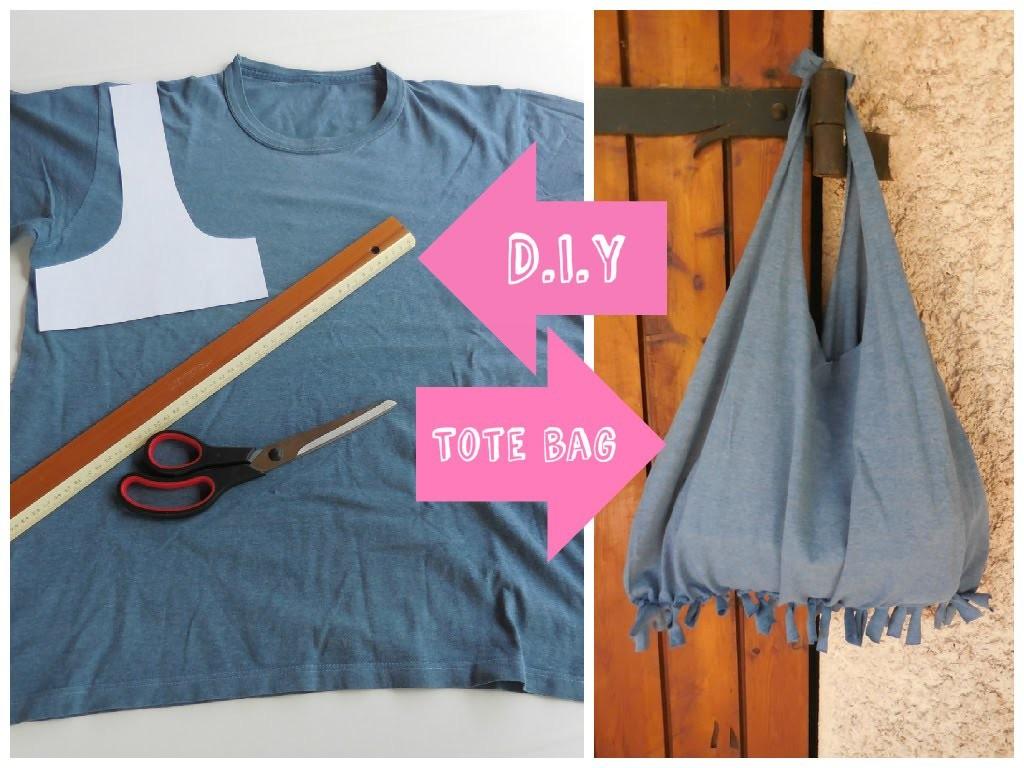 [ DIY ] ✂ Réaliser un tote bag avec un tee-shirt. T-shirt bag - no sew