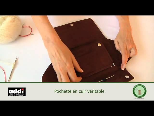 Kit d'aiguilles circulaires Addi-click Lace spécial dentelle avec pointes extra-fines