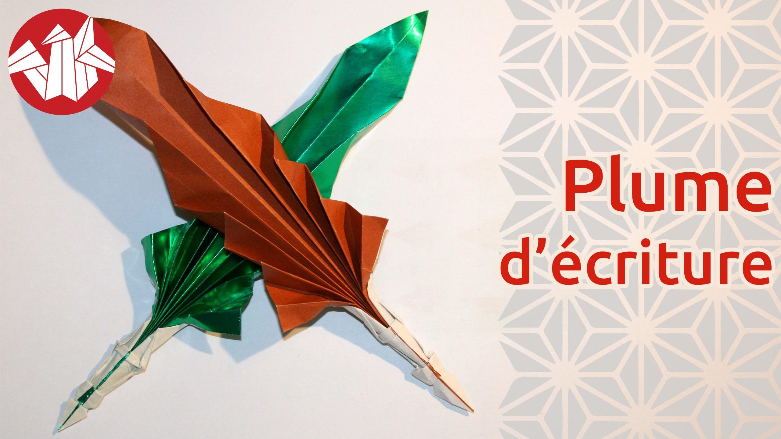 Origami - Plume d'écriture - Quill pen [Senbazuru]
