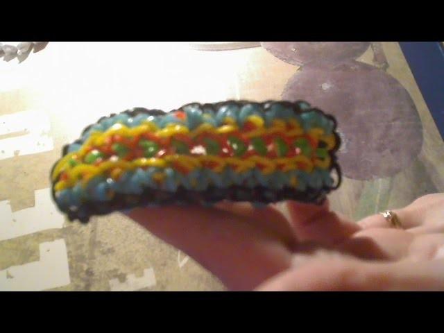 Rainbow Loom francais bracelet miroir (facile) ( loom band )