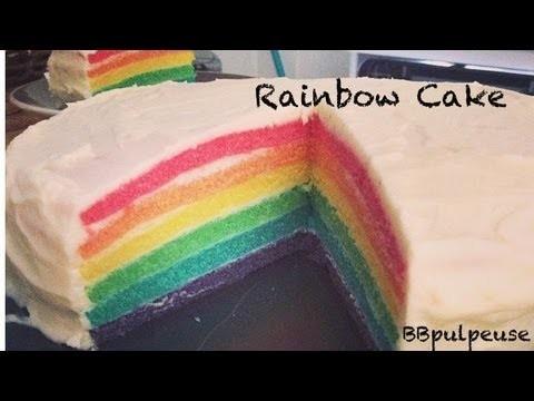 [. Recette .] Rainbow Cake