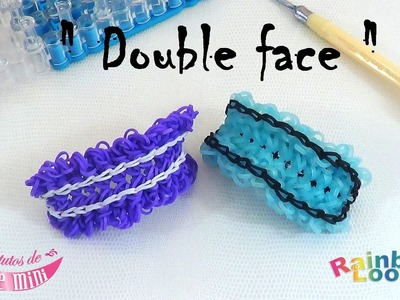 "{ Tuto } bracelet "" double face "" en élastique rainbow loom"
