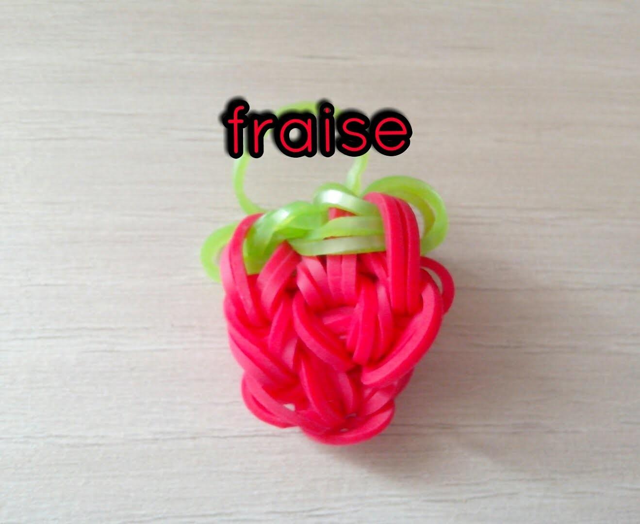[TUTO] : fraise en rainbow loom