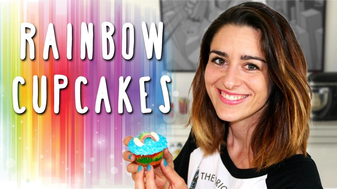 Cupcakes Arc-en-Ciel. Rainbow Cupcakes